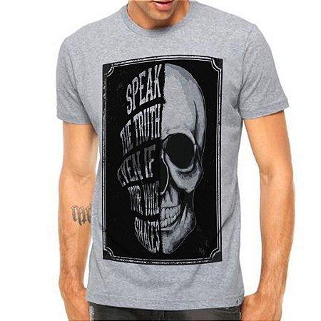 Camiseta Manga Curta Half Skull