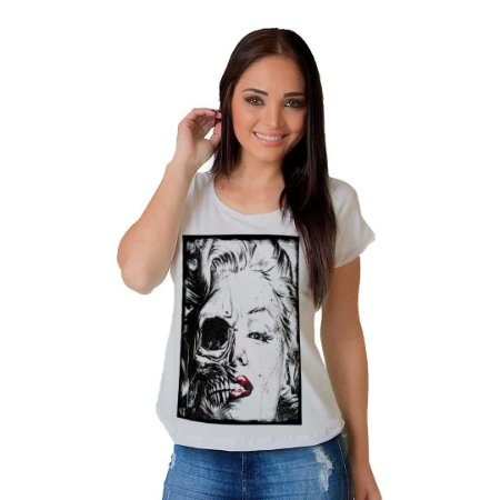 Camiseta T-shirt  Manga Curta Marilyn Transformation