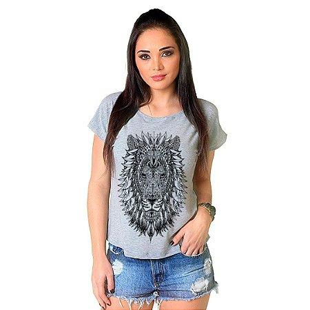 Camiseta T-shirt  Manga Curta Leão Tattoo