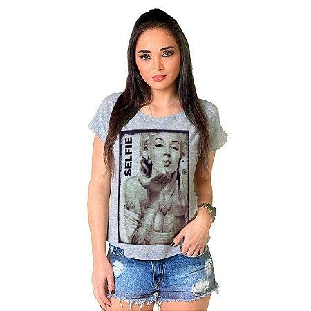 Camiseta T-shirt  Manga Curta Marylin Selfie