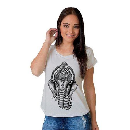 Camiseta T-shirt  Manga Curta Elefante Hindu