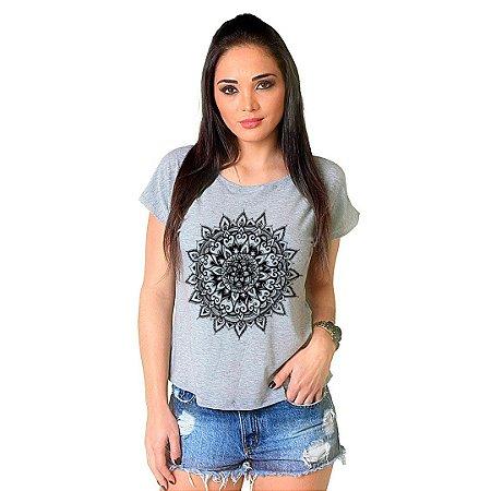 Camiseta T-shirt  Manga Curta Mandala