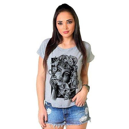 Camiseta T-shirt  Manga Curta Dama de Copas