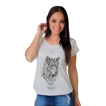 Camiseta T-shirt  Manga Curta Lobo Stone