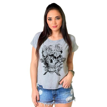 Camiseta T-shirt  Manga Curta Caveira Front