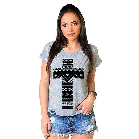Camiseta T-shirt  Manga Curta Cruz Elementos