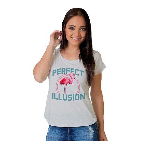 Camiseta T-shirt  Manga Curta perfect Illusion
