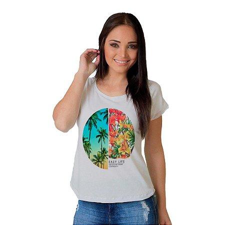 Camiseta T-shirt  Manga Curta Easy Life