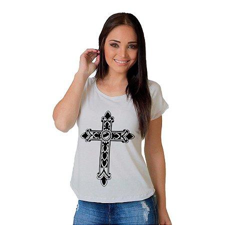Camiseta T-shirt  Manga Curta Black Cruz