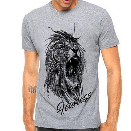 Camiseta Manga Curta Leão Tattoo
