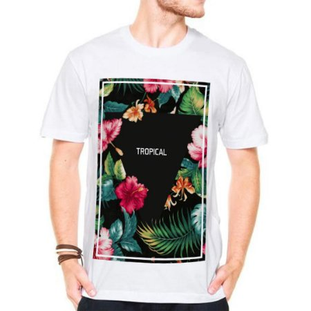 Camiseta Manga Curta Tropical