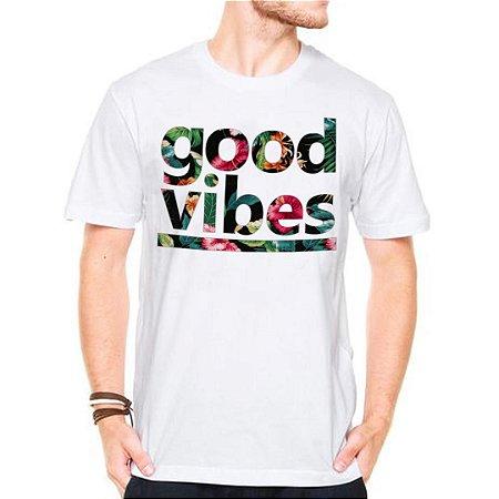 Camiseta Manga Curta Good Vibes