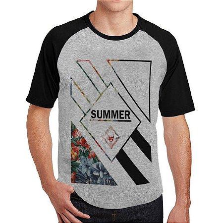Camiseta Raglan Floral