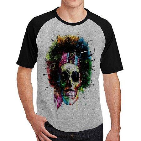 Camiseta Raglan Caveira Jimmy