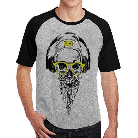 Camiseta Raglan Caveira Sound
