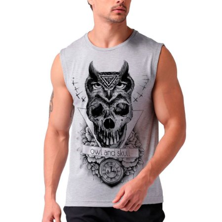 Regata Masculina Owl Skull