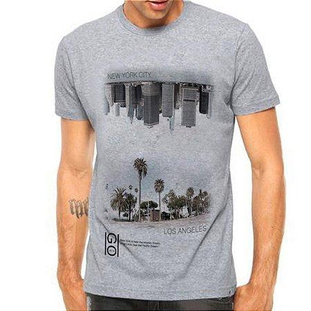 Camiseta Manga Curta Top Cities