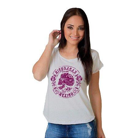 Camiseta T-shirt  Manga Curta Dia de Muertos