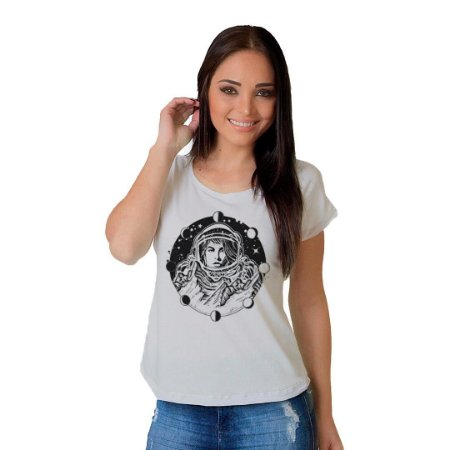 Camiseta T-shirt  Manga Curta Astronauta