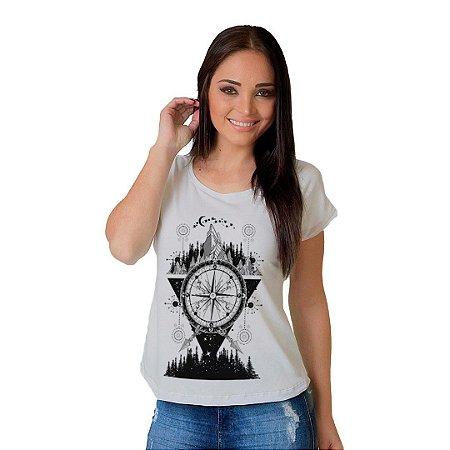 Camiseta T-shirt Bussola e Montanha