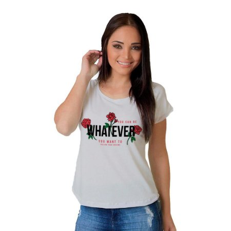 Camiseta T-shirt  Manga Curta Whatever