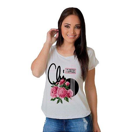 Camiseta T-shirt  Manga Curta Flowers