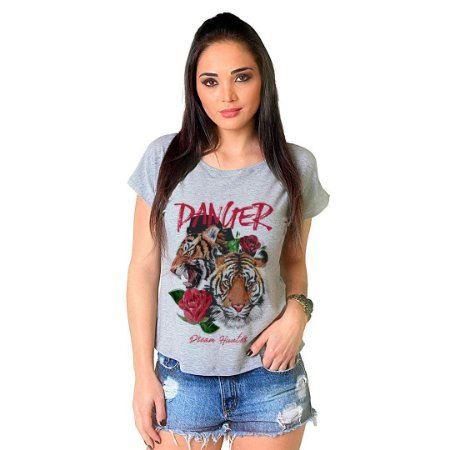Camiseta T-shirt  Manga Curta Danger