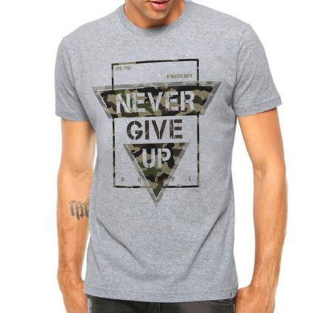Camiseta Manga Curta Never Give Up