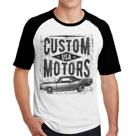 Camiseta Raglan motors USA