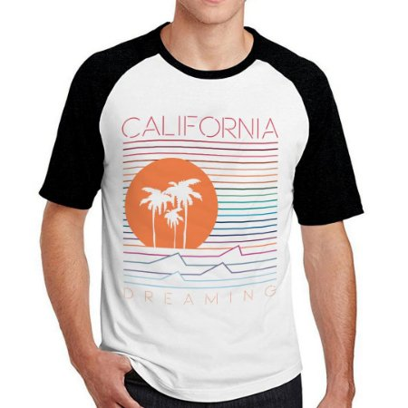 Camiseta Raglan california dreaming