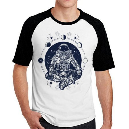Camiseta Raglan alone at space