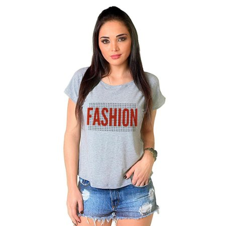 Camiseta T-shirt  Manga Curta Fashion