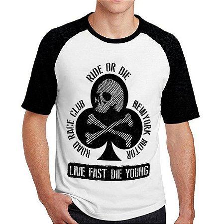 Camiseta Raglan ride or die
