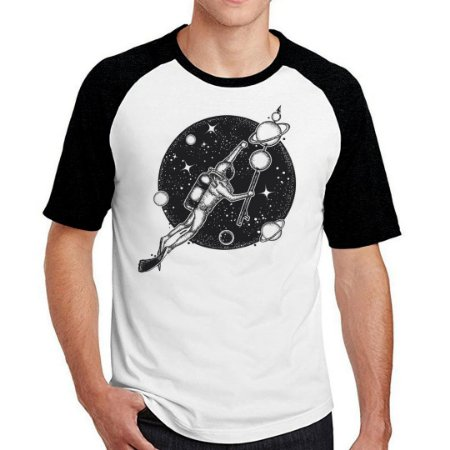 Camiseta Raglan swim in the space