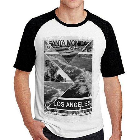 Camiseta Raglan santa monica beach