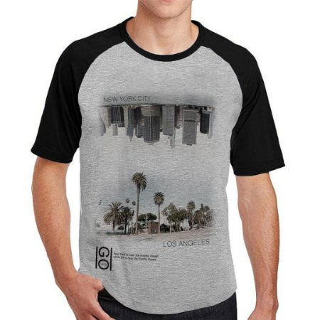 Camiseta Raglan inverter cities