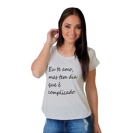 Camiseta T-shirt  Manga Curta Eu te Amo