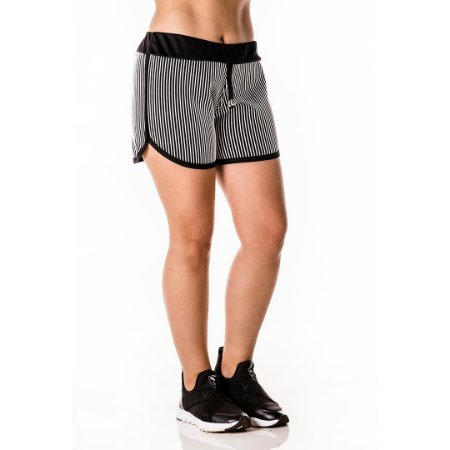 Shorts Listas 3D Branca
