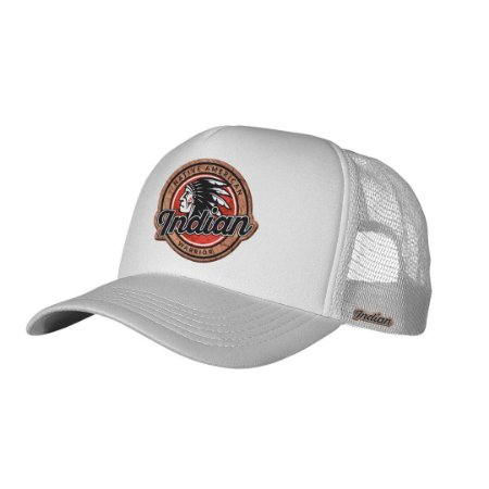 Boné Trucker Indian Warrior Branco
