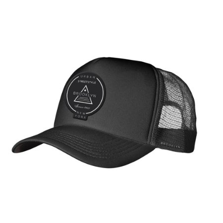Boné Trucker Brooklyn Preto