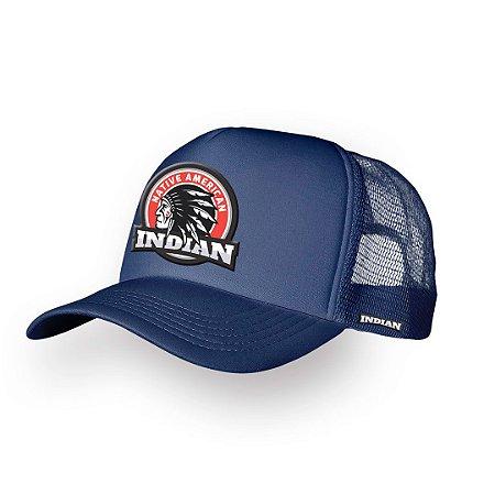 Boné Trucker Indian Marinho