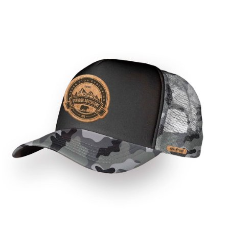 Boné Trucker Adventure Camuflado