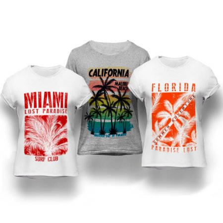 Kit Hot 3 Camisetas