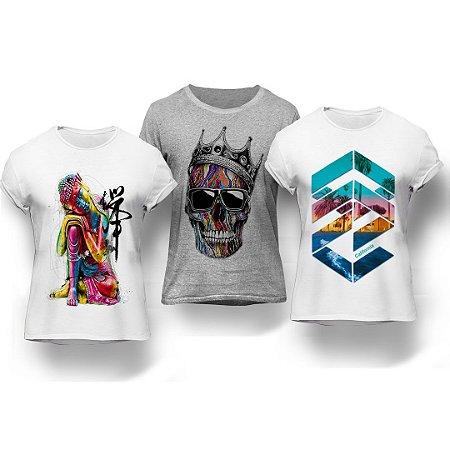 Kit 3 Camisetas Multicolor