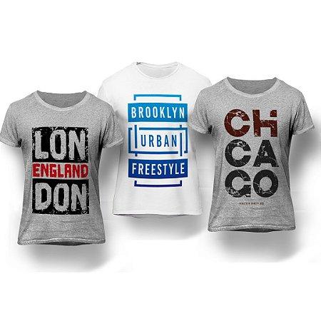 1c6c891a2a ... CAMISETAS MASCULINAS · REGATAS MASCULINAS. Kit 3 Camisetas Cidades