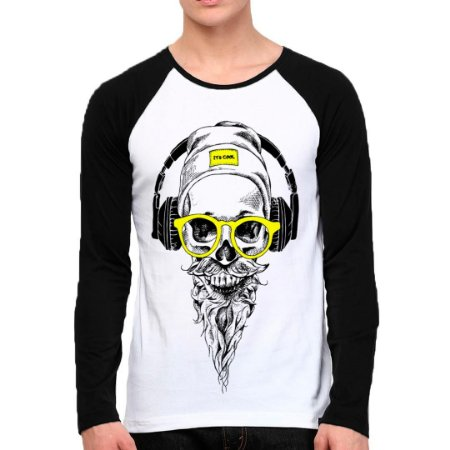 Camiseta Manga Longa Caveira Sound