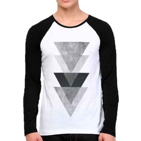 Camiseta Manga Triangulos