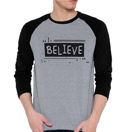 Camiseta Manga Longa Believe