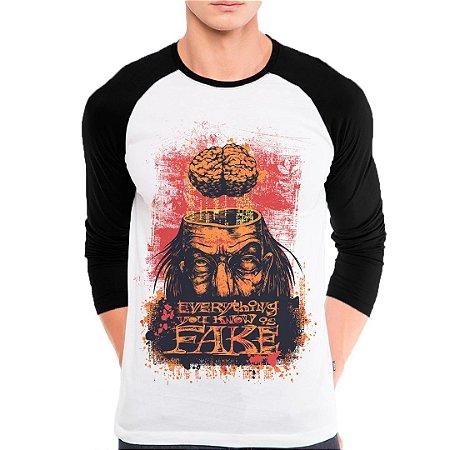 Camiseta Manga Longa Fake