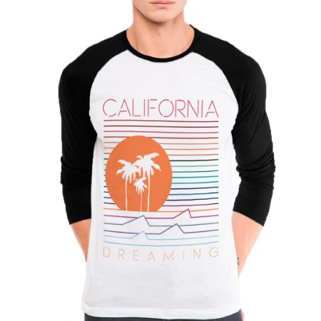 Camiseta Manga Longa California  dreaming